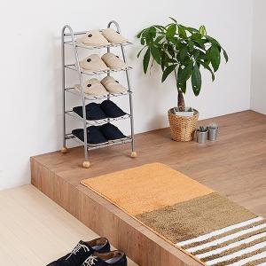 スリッパラック 棚 横向き 水平 スチール スリッパ置き スリッパ立て|usagi-shop