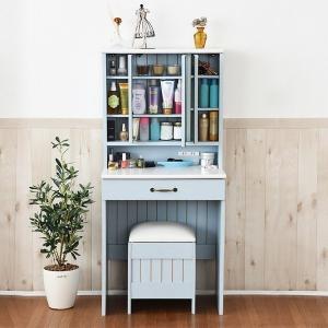 ドレッサー 椅子付き おしゃれ 三面鏡 収納 化粧台 北欧|usagi-shop