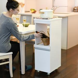 キッチンワゴン 家電 収納 炊飯器 ジャー スライドレール コンセント挿し口|usagi-shop