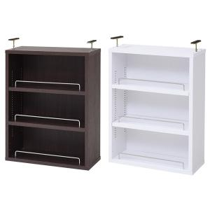 上置き 本棚 薄型 オープン 天井 突っ張り (本棚本体別売り)|usagi-shop