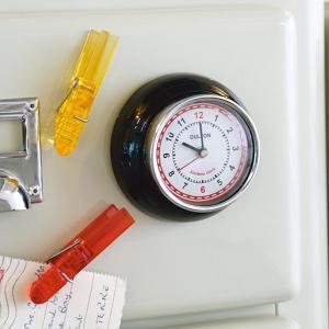 ウォールクロック マグネット 磁石 掛け時計 アナログ おしゃれ オシャレ インテリア 冷蔵庫 ガレージ usagi-shop