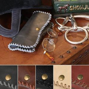 メガネケース 革 フェイクレザー おしゃれ メンズ かっこいい 渋い レディース|usagi-shop