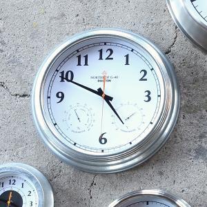 掛け時計 温度計 湿度計 おしゃれ シンプル アナログ 無骨 インテリア スタイリッシュ オシャレ ウォールクロック usagi-shop