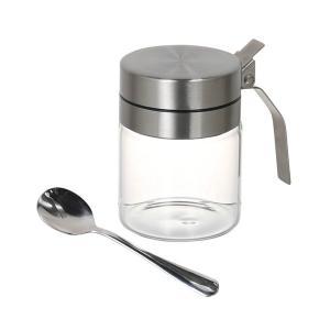 シュガーポット スプーンつき 調味料入れ 保存容器 砂糖 塩 usagi-shop