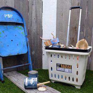 トロリー カート キャリー かご キャスターつき 屋外 屋内 アウトドア 洗濯物入れ 取っ手つき