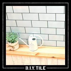 タイルシート シール付き DIY モザイクタイル キッチン はがせる 北欧 防水 トイレ 防炎 レンガ調 地下鉄風デザイン おしゃれ レトロ シンプル かっこいい|usagi-shop