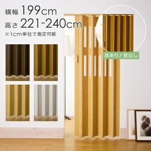 パネルドア オーダー アコーディオンドア DIY 幅 199cm 高さ 221〜240cm|usagi-shop