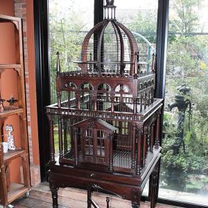 鳥かご 大型 アンティーク インテリア ケージ おしゃれ 木製 宮殿 城 鳥篭 鳥籠 鳥カゴ|usagi-shop