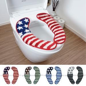 便座シート 便座カバー 便座マット アメリカン 星条旗 USA 国旗 洗浄暖房型 O型 U型|usagi-shop