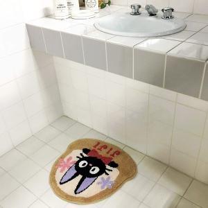 マット ジジ 魔女の宅急便 ねこ ネコ 猫 おしゃれ ジブリ 洗面所 玄関マット リビング トイレ バスマット キャラクター usagi-shop