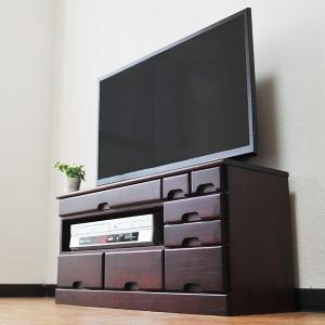 テレビ台 完成品 コンパクト 木製 桐 引き出し AVラック 収納 シンプル テレビボード アジアン TV台 おしゃれ usagi-shop