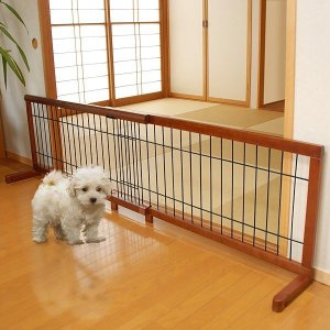 犬 脱走防止 柵 フェンス 玄関 廊下 室内 ペットゲート 伸縮 間仕切り|usagi-shop