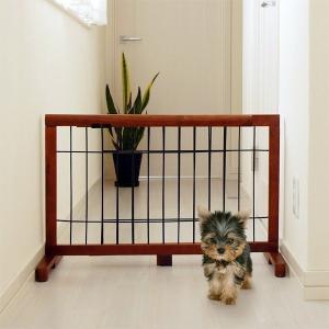 ドッグフェンス 柵 脱走防止 犬用 ケージ 門 パーテイション 犬 いぬ|usagi-shop