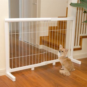 ペットゲート 犬用 中型犬 大型犬 仕切り 間仕切り 伸縮 白 ホワイト 木目 ケージ|usagi-shop