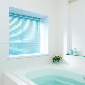アルミブラインド 浴室 つっぱりタイプ 遮熱 フッ素コート|usagi-shop