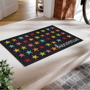 玄関マット 星 柄 スター おしゃれ 室内 屋外 ラバー 北欧 洗える|usagi-shop