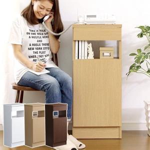電話台 FAX台 おしゃれ スリム 収納棚 usagi-shop
