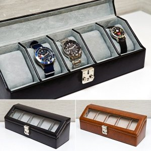 腕時計ケース 収納ボックス ウォッチケース 5本...