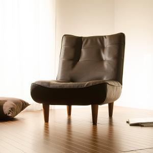 ハイバックソファ 1人掛け 椅子 コイルスプリング リクライニング レザー PVC 合皮|usagi-shop