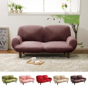 ソファー 二人掛け ラブソファ かわいい リクライニング ポケットコイル 起毛 生地|usagi-shop
