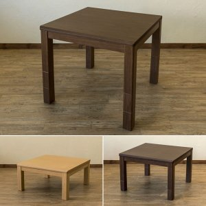 こたつテーブル 正方形 高さ変更 脚 継ぎ足し オールシーズン 80×80cm|usagi-shop