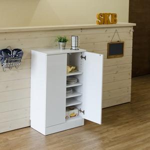 チェスト 扉付き 食器棚 小型 ロータイプ カウンター下収納 可動棚 スリム|usagi-shop