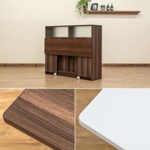 キッチンカウンター 110cm カウンターテーブル 天板 収納棚 食器棚 目隠し 間仕切り