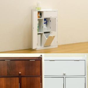 トイレ 収納棚 ラック 大容量 ホワイト 白 ブラウン|usagi-shop