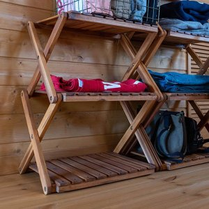 ラック 収納 棚 木製 折りたたみ 3段 usagi-shop