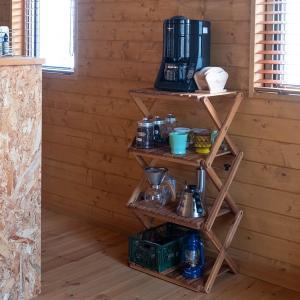 ラック 収納 折り畳み 棚 木製 おしゃれ 4段 usagi-shop