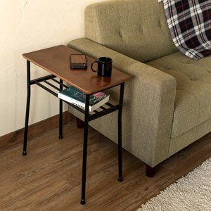 ソファー用サイドテーブル 北欧 おしゃれ 棚付き 小さい コンパクト|usagi-shop