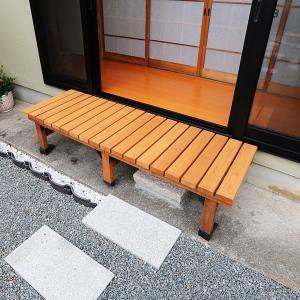 ウッドデッキ 縁側 踏み台 DIY 木製 天然木 縁側椅子 デッキ ベンチ 庭 ベランダ おしゃれ ...