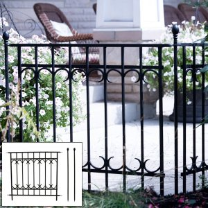 フェンス 支柱 2本 セット / ガーデンフェンス 柵 diy 枠 庭 フェンス 北欧 ヨーロピアン おしゃれ アンティーク|usagi-shop