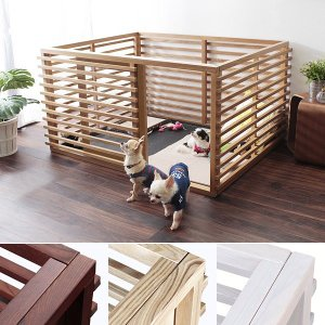 ドッグゲージ 犬 木製 ケージ ドッグハウス ペットサークル 屋根なし