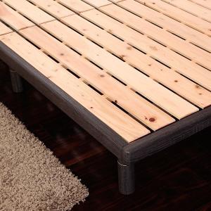 すのこ セミダブル すのこベッド 120cm ベッドフレーム 国産 天然木 スノコベット ひのき 桧 檜 木製 北欧 フレームのみ