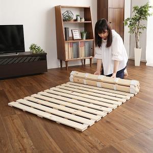 すのこベッド ロール式 シングル 折り畳み コンパクト収納 防ダニ 防カビ 結露対策 日本製|usagi-shop