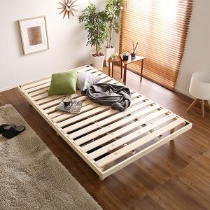 すのこベッド セミダブル SD フレームのみ 天然木 ヒノキ 桧 高さ調整可能|usagi-shop