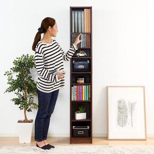 オープンラック スリム 本棚 細い 薄型 コンパクト すき間収納|usagi-shop