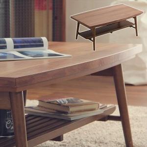 こたつ 折りたたみ 折れ脚 棚付き センターテーブル 木製 usagi-shop