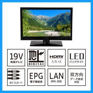 小型テレビ 19型 録画機能付き 1年間保障 usagi-shop