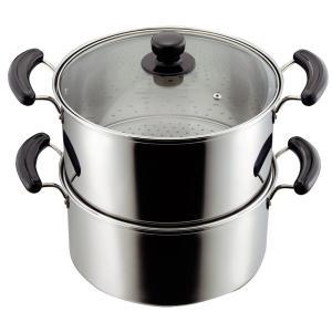 蒸し鍋 2段 鍋 蒸し器 深型鍋 ステンレス IH対応 28cm
