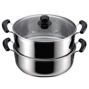 蒸し鍋 2段 蒸し器 鍋 二段蒸し鍋 ステンレス IH対応 30cm