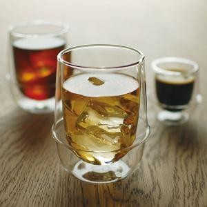 グラス ガラス おしゃれ 二重構造 耐熱ガラス スタイリッシュ コップ|usagi-shop
