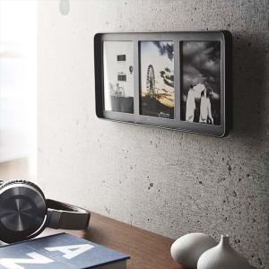 写真立て フォトフレーム 壁掛け おしゃれ 写真たて シンプル モダン 黒 白 平行 3面 山崎実業|usagi-shop