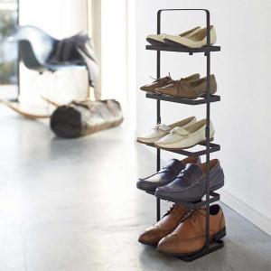 シューズラック スリム 5段 靴 収納 おしゃれ 五段 シューズスタンド 山崎実業|usagi-shop