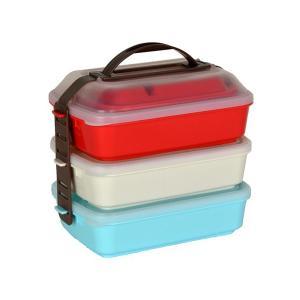 ピクニックランチボックス お弁当箱 3段 取り皿付き|usagi-shop