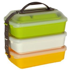 お弁当箱 レジャーランチボックス 3段 取り皿付き|usagi-shop