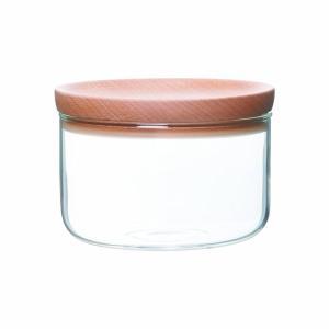 耐熱ガラス製容器 木製 蓋 ふた キャニスター 保存瓶 保存...