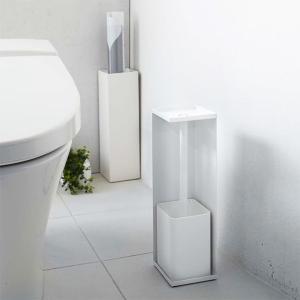 トイレ収納 トイレットペーパー トイレブラシ 収納 コーナーラック トイレ 山崎実業|usagi-shop
