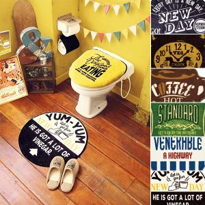 トイレふたカバー トイレマット 洗浄暖房用ふたカバー ウォシュレット ラグ おしゃれ アメカジ 西海岸|usagi-shop
